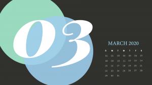 Cute March 2020 Calendar Wallpaper