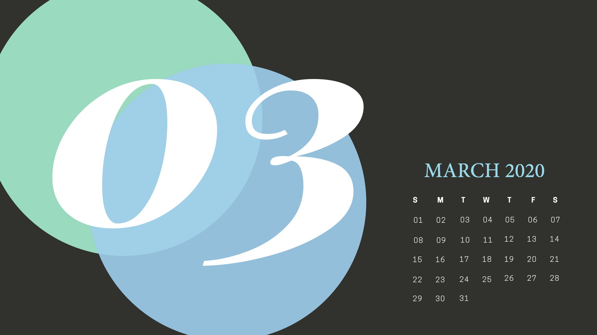 Cute March 2020 Calendar Wallpaper
