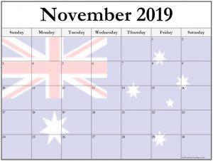 November 2019 Calendar Australia