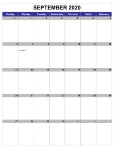 Sepetmebr 2020 Calendar Download