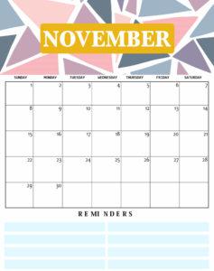 2020 November Cute Calendar