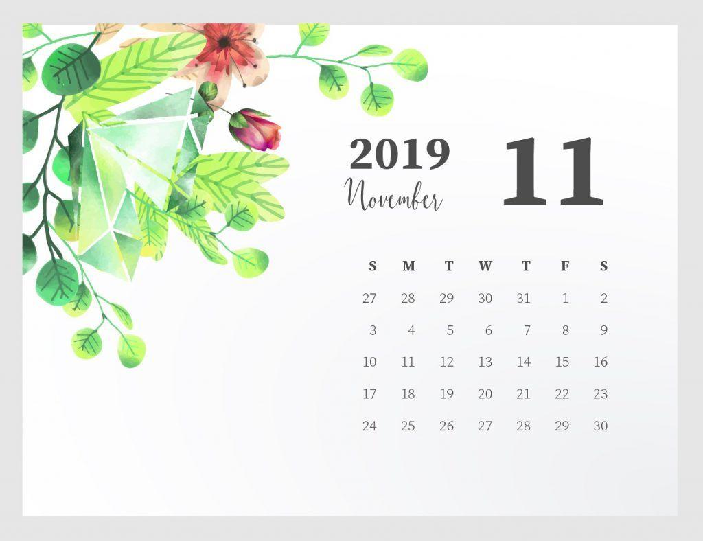 Cute November 2019 Calendar Design
