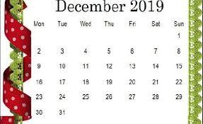 December 2019 Cute Calendar