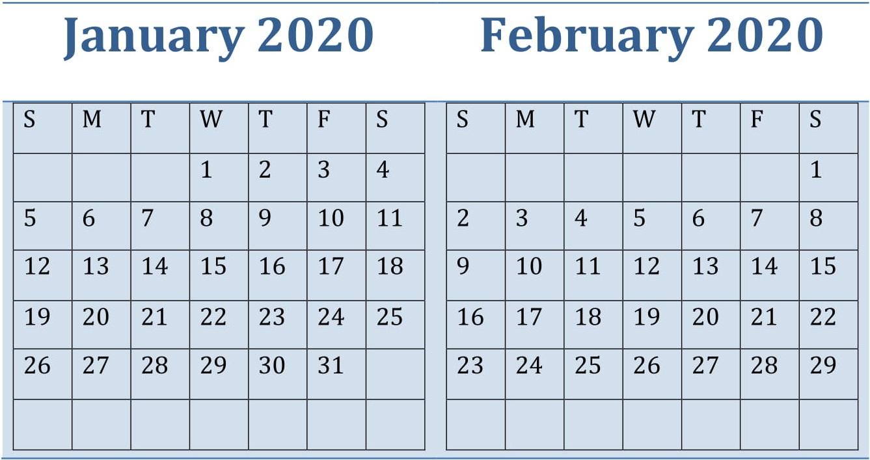 January February Calendar