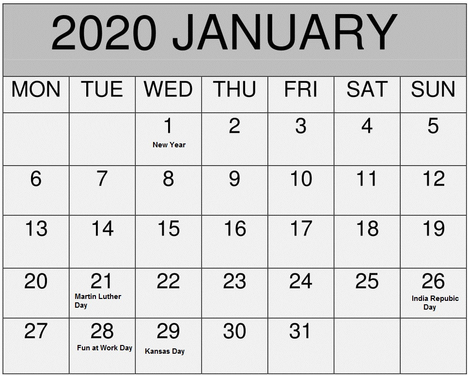List Of Holidays 2020.List Of January Holidays 2020 Calendar Usa Uk Canada