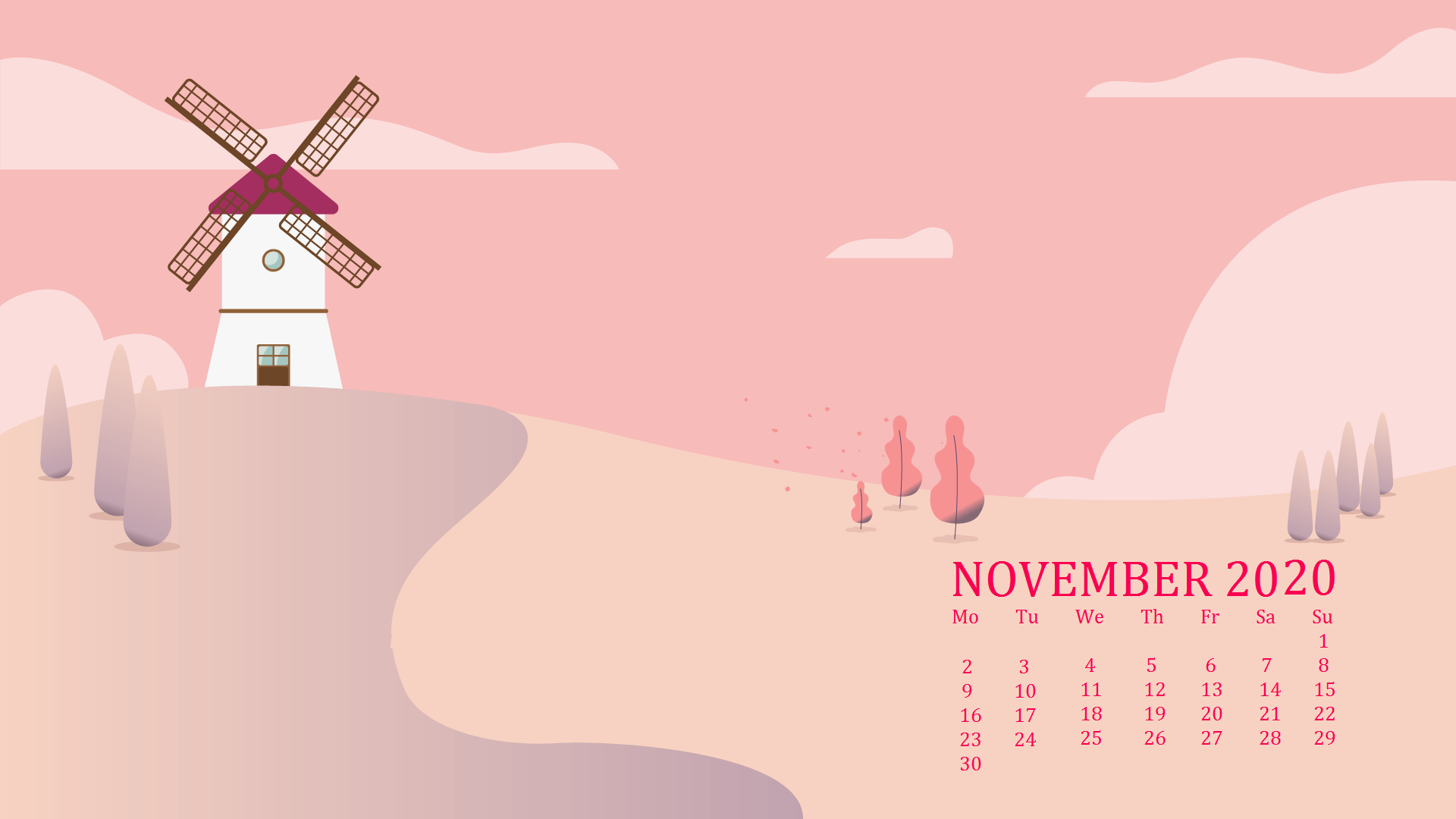 November 2020 Calendar Wallpaper For Laptop