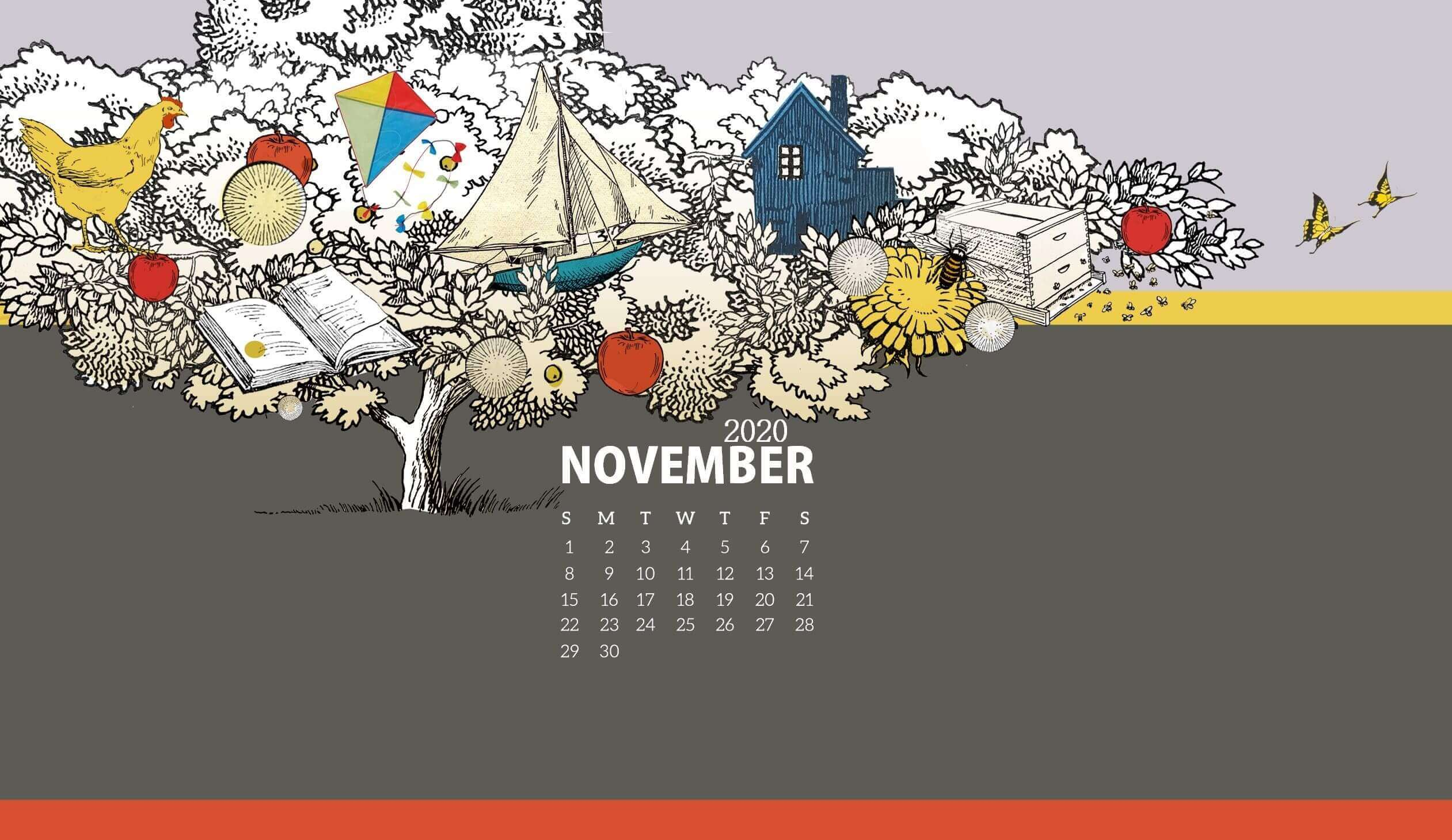 November 2020 Calendar Wallpaper for Desktop