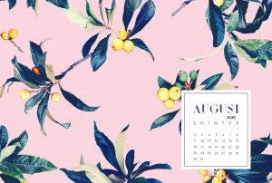 August 2020 Desktop Calendar Wallpaper