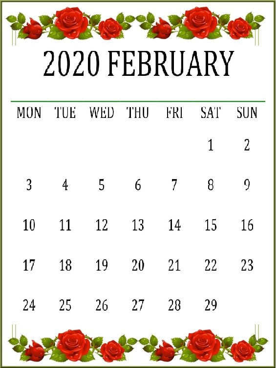 Cute February 2020 Calendar Wallpaper